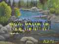 Happy Hanukkah - River in Landscape