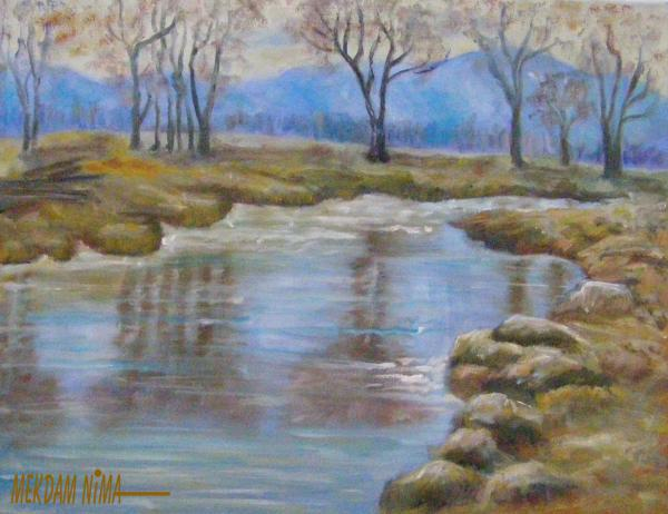Oil Painting On Canvas - Water Reflection 3