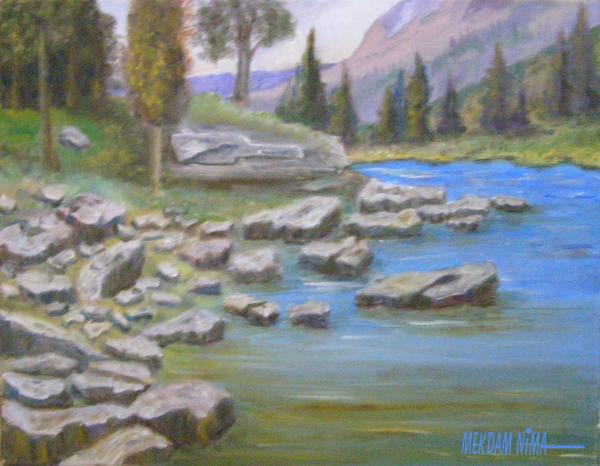 Oil Painting On Canvas - Rocks in Landscape 3
